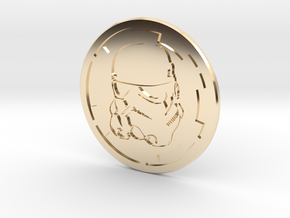 Trooper Challenge coin in 14K Yellow Gold