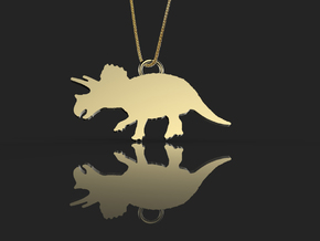 Triceratops necklace Pendant in 14k Gold Plated