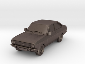 1:87 escort mk 2 2 door standard hollow in Polished Bronzed Silver Steel