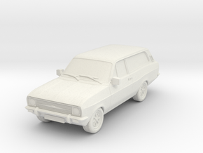 1:87 Escort mk 2 2 door estate hollow in White Natural Versatile Plastic