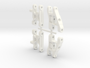 NRC-32 Front & Rear Arms in White Strong & Flexible Polished