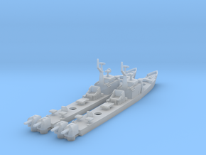 1/1250 Soviet Petya Frigate X 2 in Smooth Fine Detail Plastic