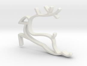 Reindeer Necklace  in White Natural Versatile Plastic