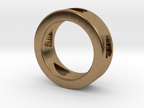 LOVE RING Size-10 in Natural Brass