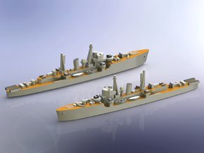 IJN DE Etorufu 1944 1/1250 in Smooth Fine Detail Plastic