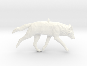 Trotting wolf in White Processed Versatile Plastic