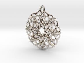 Star-shaped locket in Rhodium Plated Brass