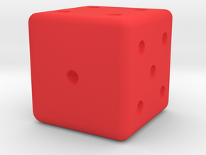 Sneaky Dice in Red Processed Versatile Plastic