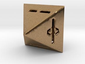 IChingDice-solidLineFix in Natural Brass