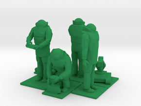 Explosive Ordinance Disposal, EOD Team 2, 1/64 in Green Processed Versatile Plastic