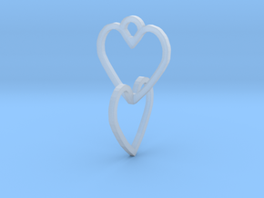 Connected heart of the ring in Smooth Fine Detail Plastic
