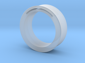 Simple Band-Nfc-Rfid Ring in Smooth Fine Detail Plastic