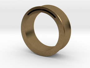 Simple Band-Nfc-Rfid Ring in Natural Bronze