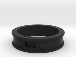 NFC Band Ring Size 21 in Black Natural Versatile Plastic