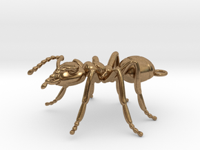 Ant Pendant in Raw Brass