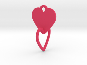 heart of the ring to connect with heart in Pink Processed Versatile Plastic