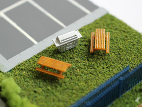 N Scale 2x BBQ in Frosted Ultra Detail