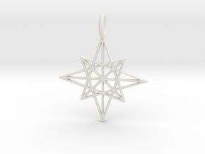 The Star Pendant in White Natural Versatile Plastic