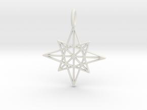 The Star Pendant in White Natural Versatile Plastic