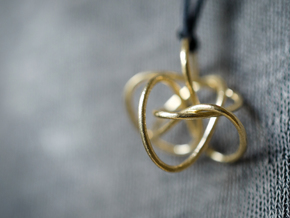 Brass ribbons in Natural Brass (Interlocking Parts)