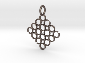 C and C Pendant in Polished Bronzed Silver Steel
