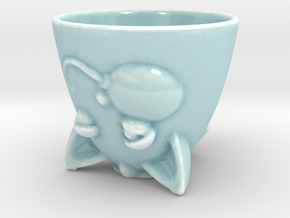 Kitty Cup in Gloss Celadon Green Porcelain