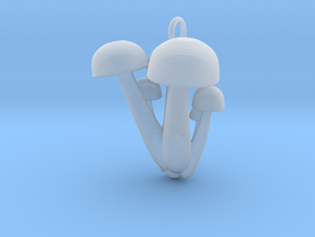 Bunapi Life-Size Mushroom Charm / Pendant in Smooth Fine Detail Plastic