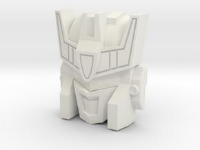 Stalker / MW Soundwave Face (Titans Return) in White Natural Versatile Plastic