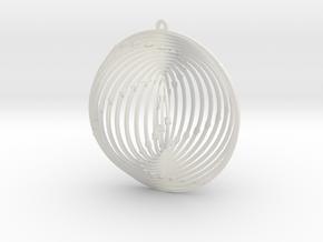 Pendant Wind Spinner Circle in White Natural Versatile Plastic
