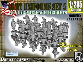 1-285 Army Modern Uniforms Set5 in Smoothest Fine Detail Plastic