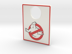 Pinball Plunger Plate - Spooky 4 in Glossy Full Color Sandstone