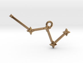 The Constellation Collection - Cassiopeia in Natural Brass