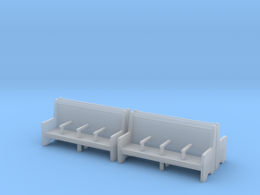 Bench type C - 00 ( 1:76 scale ) 4 Pcs set in Smooth Fine Detail Plastic