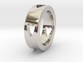 LOVE RING Size-11 in Platinum
