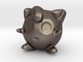 Jigglypuff in Polished Bronzed Silver Steel