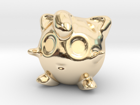 Jigglypuff in 14k Gold Plated Brass