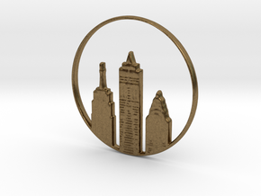 New York Pendant in Natural Bronze