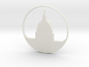 Washington DC Pendant in White Natural Versatile Plastic