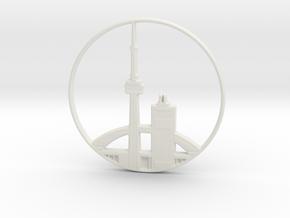 Toronto Pendant in White Natural Versatile Plastic