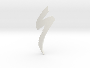 Logo Specialized  - height 76mm  in White Natural Versatile Plastic