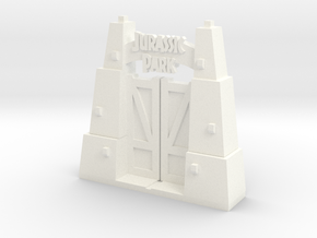 Jurassic Park Gate in White Strong & Flexible Polished