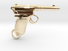 Frommer Gun 1910 in 14k Gold Plated Brass