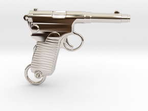 Frommer Gun 1910 in Rhodium Plated Brass