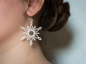 Sol Earrings in White Processed Versatile Plastic