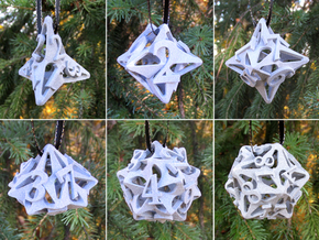 Pinwheel Dice Ornament Set in Gray Professional Plastic