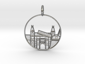 Amsterdam Pendant with Loop in Raw Silver