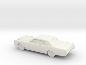 1/87 1966-68  Lincoln Continental Coupe in White Natural Versatile Plastic