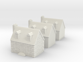10mm Colonial Houses For Rusty in White Natural Versatile Plastic