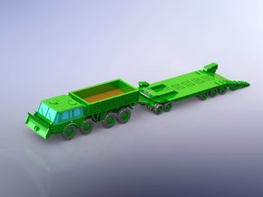 Czech Tatra 813 & P-50 Tank Trailer 1/200 in Smooth Fine Detail Plastic