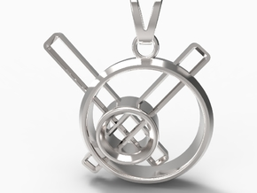 Stopped Time Pendant in Fine Detail Polished Silver